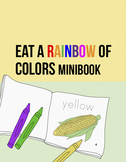 Food Coloring Sheets: Colorful Fruit and Veggie Minibook