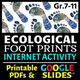 Ecological Footprints - Internet Activity {Editable}