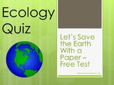 Ecology E -Quiz