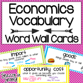 Economics Vocabulary Cards {Dots!}