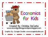 Economics Unit for Kids Posters, Printables, Activities