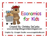 Economics Unit for Kids Posters, Printables, Activities