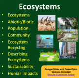 Ecosystems - Ecology PowerPoint Lesson and Student Notes