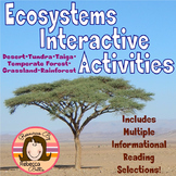 Ecosystems Biomes Habitats Interactive Activities
