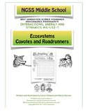 Ecosystems- Roadrunners and Coyotes NGSS Middle School LS2-1