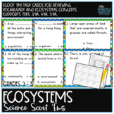 Ecosystems Vocabulary: Science Scoot 'ems/Task Cards