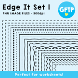 Frames - Edge It Set 1 -  Borders Great For Worksheet Edges!
