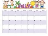 Editable 2013-2014 Monthly Calendars