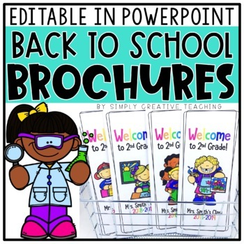 Editable Back To School Brochure - Updated for 2015-16 Year!