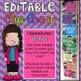 Editable Behavior Chart {Melonheadz Chevron Edition}