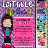 Editable Behavior Chart {Melonheadz Chevron Edition}