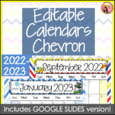 Editable Calendars 2015-2016 Chevron