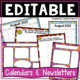 Editable Calendars and Newsletters {Year Round}
