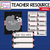 Bulletin Board Pack - Red, Black and White {EDITABLE}