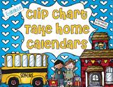 Editable Clip Chart Take Home Calendars for 2014-2015