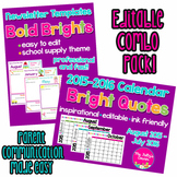 Editable Combo Pack: Newsletters & Calendars in Bold Brights