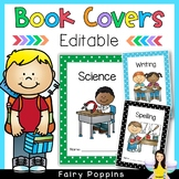 Editable Cover Pages for Subject Workbooks (Polka Dot Borders)