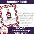 Editable Ketchup Folder Cover
