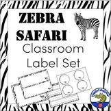 Editable Labels - Zebra Safari