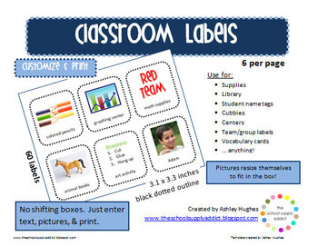 Editable Labels/Cards: Style A3