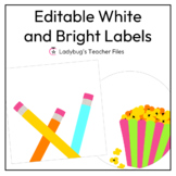 Editable Labels—Schedule Cards (White)