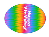 Editable Rainbow Birthday Balloons