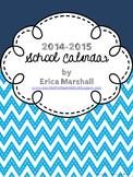 Editable School Calendar 2014-2015