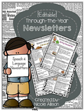 {Editable} Speech and Language Newsletters for the Year