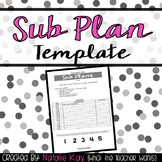 {Editable} Sub Plan Template