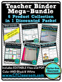 Editable TEACHER Organization BINDER 6 PRODUCT BUNDLE {Tem