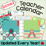 Editable Teacher Calendar