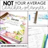 Editable Teacher Binder/Planner - Free Updates! {NOT Your