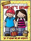 Editable Teachers Binder...For a full year!