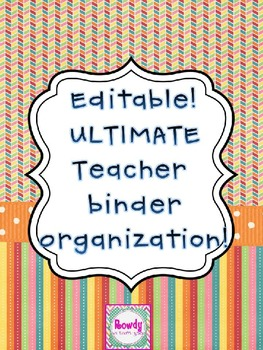 Editable Ultimate Teacher Binder