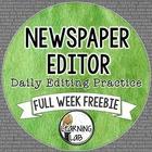 Editing Practice - Full Week FREEBIE