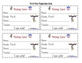 Election Voter Registration Cards