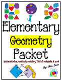 Elementary Geometry Packet (SUPER JAM-PACKED!)