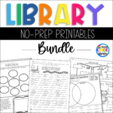 Elementary Library No Prep Printables - Bundle