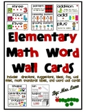 Elementary Math Word Wall Cards