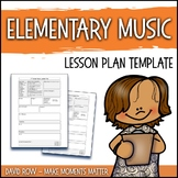 Elementary Music Lesson Plan Template