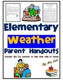 Elementary Weather Parent Handouts (Help At Home)