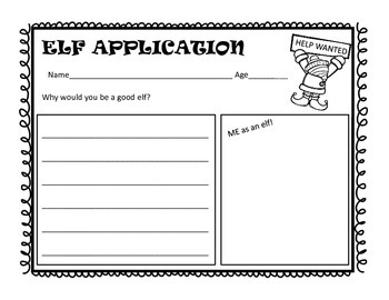 Elf Application Writing FREEBIE