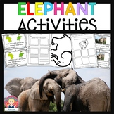 Elephant Activities for K-1 {Booklet, Graphic Organizers,