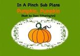 Emergency Substitute Lesson Plans- Kindergarten (Pumpkin,