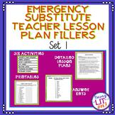 Emergency Substitute Teacher Lesson Plans Bundle of Fillers