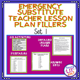 Emergency Substitute Teacher Lesson Plans Bundle of Fillers