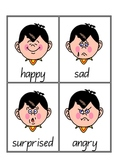Emotions Vocabulary/Flash Cards - Word Wall - 7 pages