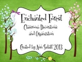 Enchanted Forest Classroom Decorations and Organization