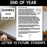 End of the Year Activities: Letter to Future Students