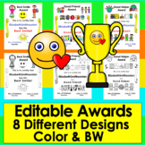 End of The Year Award Certificates - 7 Different Awards Re